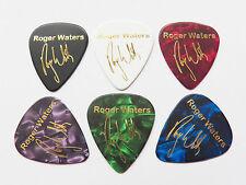 ROGER WATERS PINK FLOYD signature stamped gold printed plectrum guitar pick x6