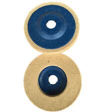 3 stücke 100mm 4 Zoll Blau Wolle Polieren Winkelschleifer Rad Filz Polierscheibe