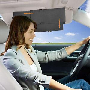 2Pcs WANPOOL Universal Car Front Seat Visor Anti-dazzle Sunshade Extender -Black