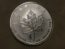 2016 Canada Maple Leaf Big Foot Privy 1 Troy Oz .999 Silver Coin Bullion