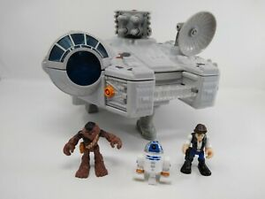 Star Wars Galactic Heroes Millennium Falcon w/ Han Chewbacca R2D2 and ladder