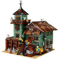NEW BRAND Ideas Old Fishing Store Compitible TO 21310 Lego set + Manual Book