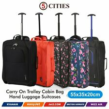 243c4bb0a2d Ryanair easyJet 55cm Cabin Approved Hand Luggage Wheeled Trolley Suitcase  Bags
