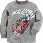 Carter  s Boys Local Hero Fire Truck Themed Long Sleeve Shirt NWT