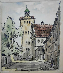 "Scheele, Hugo (1881 Arnsberg - 1960 Greifswald) ""Am Schloßturm – Stettin 1942"""