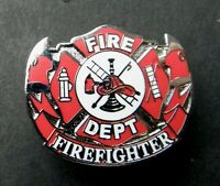 FIREMAN FIREFIGHTER FIRE DEPT METAL LAPEL PIN HAT PIN EMBLEM WITH BACK NYFD