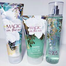 Bath & Body Works Magic In The Air Gift Set Full Size Sugar Scrub Mist Cream New