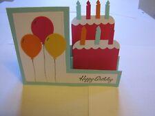 Birthday Cake Happy Birthday Balloons step Handmade Card Kit 4 some stampin up