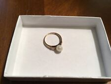 10k Yellow Gold Pearl Ring Size 5.5