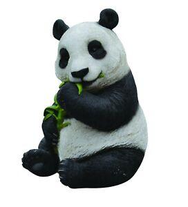 Sitting Panda Eating Bamboo Highly Detailed Garden Decoration
