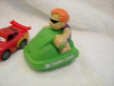 Cars  Movie Steve Mcqueen /bath toy skidoo set of 2 nice set  3""