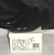 """AFTER SIX """"RADIO CITY"""" PATENT LEATHER TUXEDO OXFORD MEN'S DRESS SHOES ~ SIZE 9 W"""