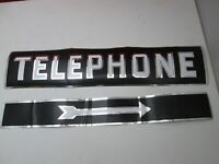 Vintage Original Telephone Decal Sticker Reflective Sign Advertising 1970s