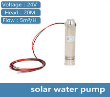 DC 24V Brushless Solar Water Pump 5000L/H 20m Head Submersible Deep Well Pump