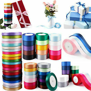 25 Yards Satin Ribbon Roll Pack for Party Home Wedding Car Gifts Wrapper Ribbons