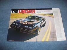 "1980 Pontiac Turbo Trans Am Street Drag Car Article ""The Lineman"""