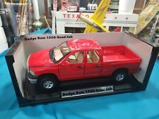 Motor Max 1:18 DODGE RAM 1500 QUAD CAB 2003 Red BEAUTIFUL VERY NICE TRUCK