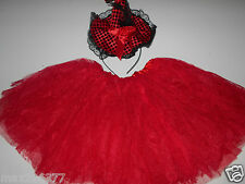 New Halloween child red Witch Costume tutu and hat size 2-6 girls FREE ship ⭐