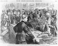 Print 1870s Sioux Indians in Store on Broadway NYC