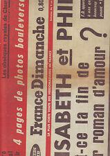 france dimanche fevrier 1965 - elisabeth et philip -