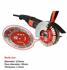 220V Double Blade Slotting Cutting Machine Wall Groove Cement Brick Cutter 1800W