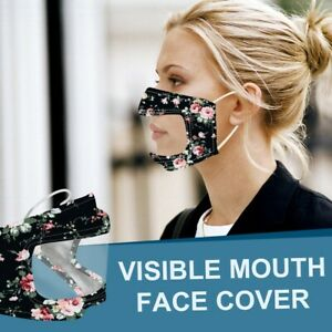 Face Mask Deaf-friendly Washable Reusable with Clear Window for Deaf-Mute