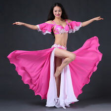 New 2017 Professional Belly Dance Costumes Performance Stage 2pcs Bra Skirt