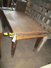 """Solid rustic pine vintage worktable with guillotine 61"""" x 31"""" x 30"""" tall"""
