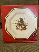 Vtg Nikko Christmas Happy Holidays Bread and Butter Plates Set Of 4