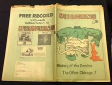 """April 15 1970 """"Changes"""" Underground Newspaper Hulk cover comic book issue sds"""