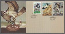 Gibraltar 2009 FDC Birds Of The Rock - 10p, £2 & £3 Values