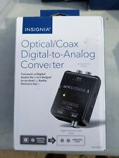 Insignia- Optical/Coaxial Digital-to-Analog Converter - Black