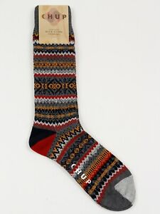NEW CHUP SNJOR Steele Grey KNITTED Socks Made in Japan Size L Large