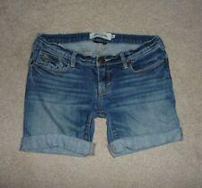 Abercrombie Kids low rise stretch cut-off cuff jean shorts Girls Size 16 slim