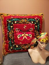 VERSACE PILLOW CUSHION BUTTERFLY LARGE SIZE RETIRED COLLECTIBLE