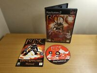 SONY PLAYSTATION 2 - PS2 - RUNE VIKING WARLORD - COMPLETE WITH MANUAL - FREE P&P
