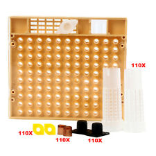 Queen Rearing Cupkit Box + 110x Hair Roller Cage + 110 Cell Cups Beekeeping Set