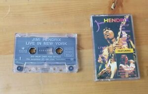 JIMI HENDRIX  cassette tape LIVE IN NEW YORK