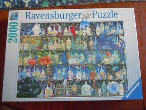 Ravensburger Poisons & Potions Bottles Wizardry Dragon 2000 Piece Puzzle COMPLET