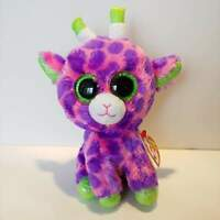 "Gilbert the Giraffe - Ty Beanie Boo Plush - Style 37220 - Regular 6"" 15cm - NEW"