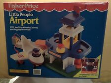 Fisher Price 1992 Little People #2558 Airport NIB with Mini Plane & People
