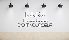 Laundry Service Quote Words Modern Art Wall Decal Home House Sticker NQ88