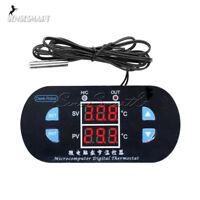 W1308 12V 10A Digital Dual LED Display  Red Thermostat Alarm Controller Sensor