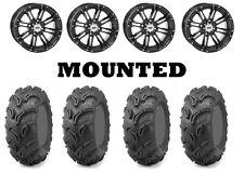 Kit 4 Maxxis Zilla Tires 26x9-12/26x11-12 on STI HD3 Gloss Black Wheels IRS