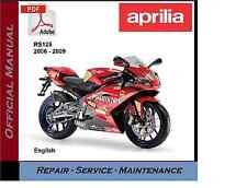 Aprilia RS125 2006 - 2009 RS 125 Workshop Service Repair Manual