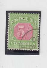 Stamp 5/- green & red postage due Victoria cancelled to order, hinged