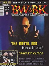#47 BW & BK vintage import music magazine - ROB HALFORD THE METAL GOD