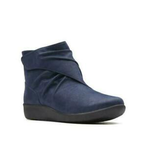 Cloudsteppers by Clarks Sillian Tana Women Ankle Booties Size US 11 Navy