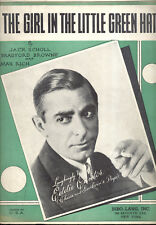 """EDDIE CANTOR Sheet Music """"The Girl In The Little Green Hat"""" 1933"""