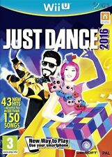 Just Dance 2016 Nintendo Wii U * NEW SEALED PAL *